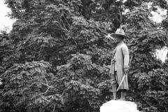 Minnes- monument av konungen Rama I, den första konungen av Chakri dynasti Fotografering för Bildbyråer