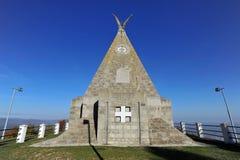Minnes- monument av WW1 i Gucevo-Banja Koviljaca, Serbien Arkivfoto