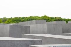 Minnes- monument för judisk förintelse i staden av Berlin Royaltyfria Bilder