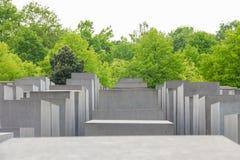 Minnes- monument för judisk förintelse i staden av Berlin Fotografering för Bildbyråer