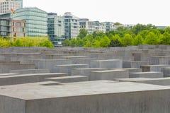 Minnes- monument för judisk förintelse i staden av Berlin Arkivfoto