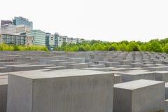 Minnes- monument för judisk förintelse i staden av Berlin Arkivbilder