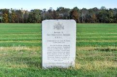 Minnes- monument, Gettysburg, PA Arkivbilder