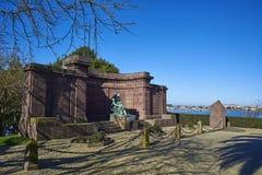Minnes- monument som är hängiven till vem dog i Greatskrigen Arkivfoto