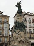 MINNES- MONUMENT TILL STRIDEN AV VITORIA Royaltyfria Foton