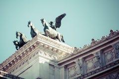 Minnes- monument Vittorianoen eller altaret av fäderneslandet, in Arkivbilder