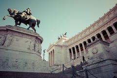 Minnes- monument Vittorianoen eller altaret av fäderneslandet, in Royaltyfri Foto