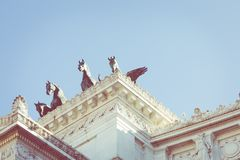 Minnes- monument Vittorianoen i den Venezia fyrkanten Arkivfoto