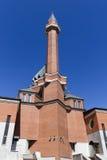 Minnes- moské på Poklonnaya Gora - April, 27, 2014. Constructe Royaltyfri Fotografi
