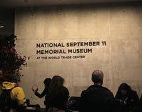 9/11 minnes- museum, ground zero, WTC Arkivbild
