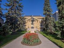 Minnes- offentligt bibliotek på Juni 5, 2016 i Calgary Arkivfoto