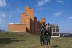 minnes- oktober för kragujevac park Royaltyfria Bilder