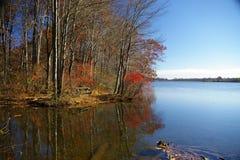 minnes- parktillstånd för lake Arkivfoto