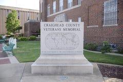 Minnes- pelare Jonesboro, Arkansas för Craighead veteran Royaltyfria Foton