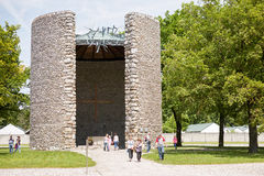 Minnes- plats Dachau royaltyfria foton