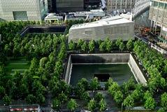9/11 minnes- plats, Juni, 2015 Arkivbild
