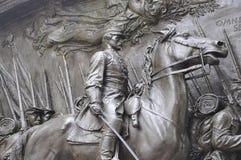 Minnes- Robert Gould Shaw och 54th regemente från Boston i det Massachusettes tillståndet av USA Arkivbild