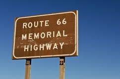 minnes- routetecken för 66 huvudväg Royaltyfria Foton