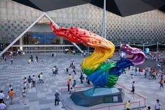 minnes- skulptur 2010 för expo shanghai Royaltyfria Bilder