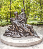Minnes- statyer till vietnamkriget Royaltyfri Fotografi