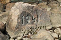 MINNES- STEN MED NUMMER 1941 Fotografering för Bildbyråer