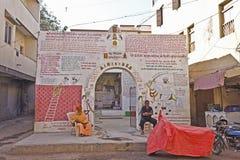 Minnes- tempel i Dwarka Royaltyfri Bild
