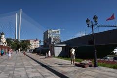 Minnes- ubåtmuseum S-56 i Vladivostok, Primorsky Krai in Arkivfoto