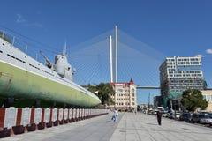 Minnes- ubåtmuseum S-56 i Vladivostok, Primorsky Krai in Royaltyfri Bild
