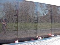 minnes- vietnam vägg Arkivbild