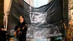 Minnesdag av det Roman Shukhevych mötet - överbefälhavare av UPA, Kiev, Ukraina, stock video
