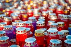 Minnesdagen - grupp av stearinljus Royaltyfria Foton