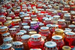 Minnesdagen - grupp av stearinljus Royaltyfri Foto