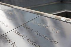 minnesmärke 9 11 Fotografering för Bildbyråer