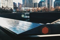 minnesmärke 9 11 Royaltyfri Fotografi