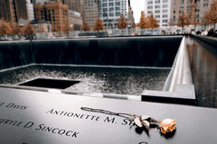 Minnesmärke av 9-11-2001 Royaltyfria Bilder
