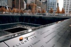 Minnesmärke av 9-11-2001 Arkivbild