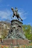 Minnesmärke av general Faidherbe på fyrkantiga Richebe i Lille Royaltyfria Foton