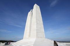 Minnesmärke av Vimy i Frankrike Royaltyfria Bilder