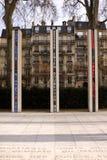 Minnesmärke för algeriskt krig - Paris Fotografering för Bildbyråer