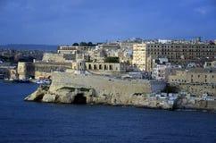 Minnesmärke för belägringKlocka krig i en hamn Valletta Royaltyfri Foto