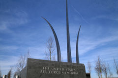 Minnesmärke för Förenta staternaflygvapen royaltyfri bild