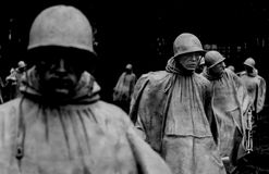 Minnesmärke för koreanskt krig Royaltyfria Foton