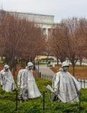 Minnesmärke för koreanskt krig Arkivbild