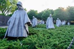 Minnesmärke för koreanskt krig, Washington DC Fotografering för Bildbyråer