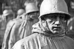 Minnesmärke för koreanskt krig, Washington DC Royaltyfri Bild