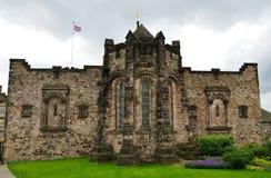 Minnesmärke för krig för Edinburgslott skotsk nationell Arkivfoton