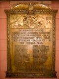 Minnesmärke för krig för IRT-gångtunnelvärld I royaltyfri fotografi