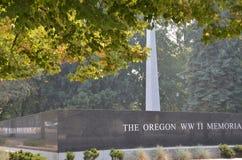 Minnesmärke för krig WW2 i Salem, Oregon arkivfoton