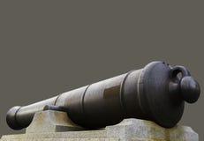 Minnesmärke för krigkanontrumma på grå olivgrön bakgrund, minne arkivbild