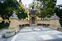 Minnesmärke för lek för ¡ för VÃtÄ› zslav HÃ, i Prague, Tjeckien Royaltyfri Fotografi